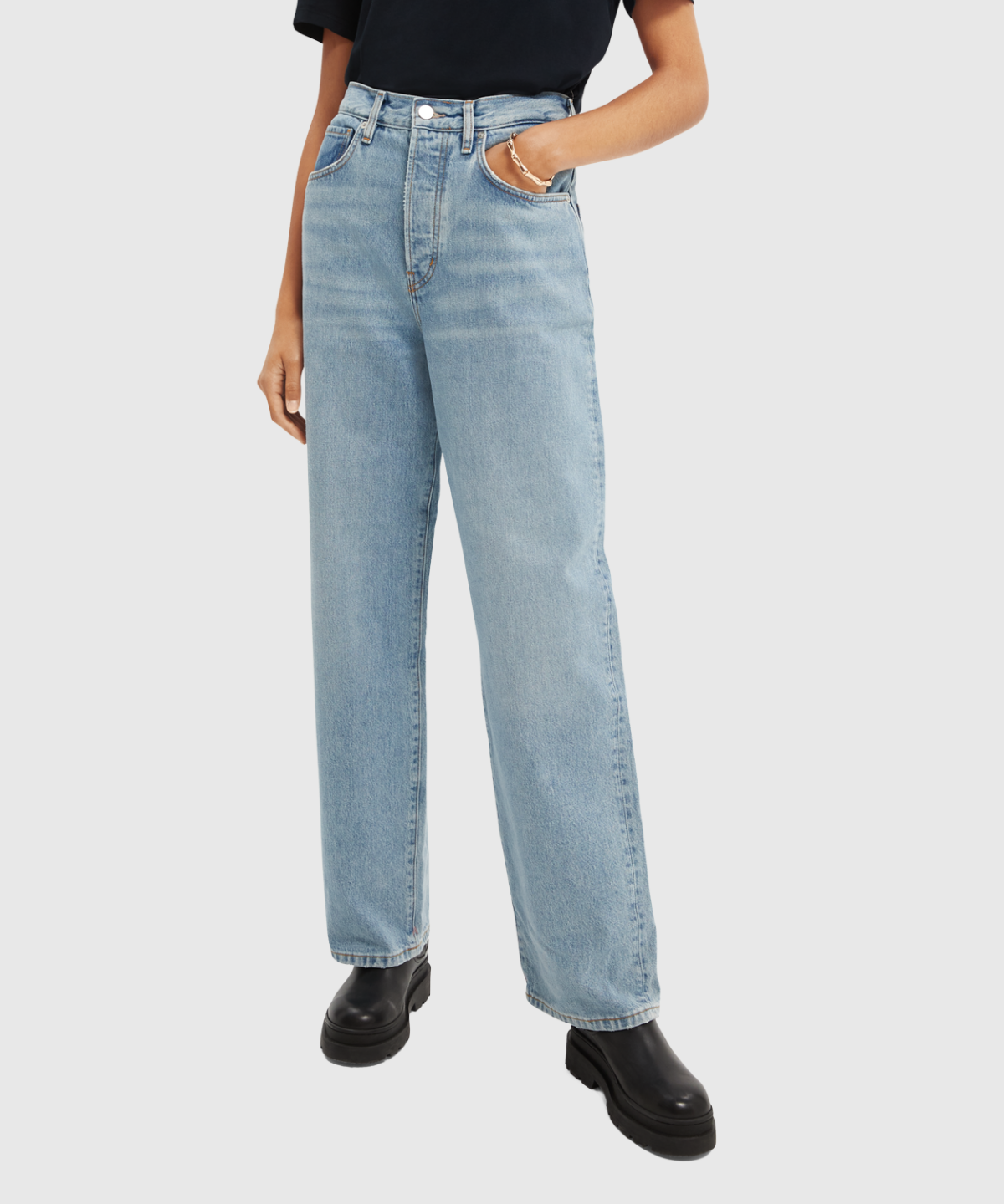 Super Loose Jeans In Organic Cotton