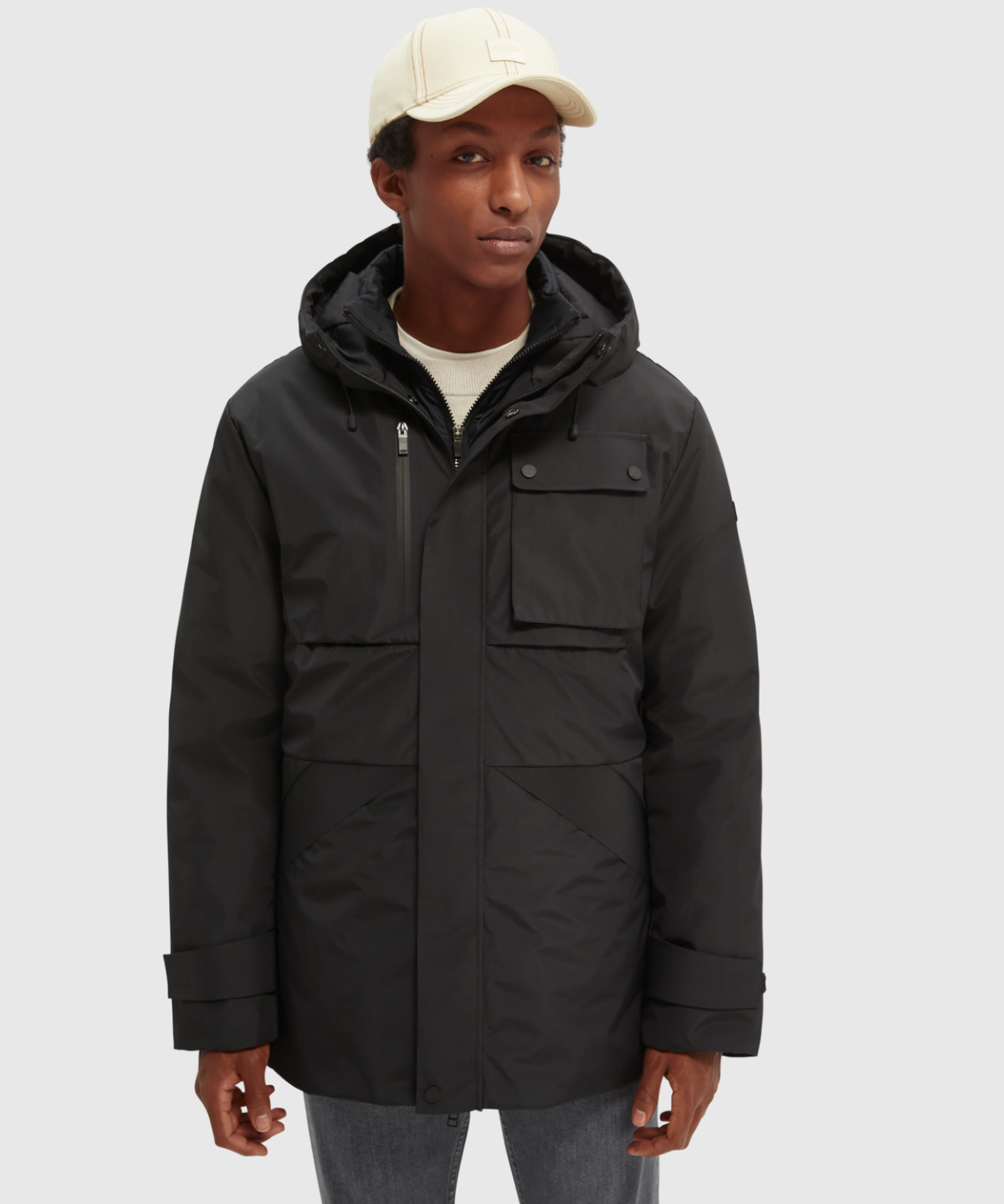 Recycled poly mid-length 2in1 jacket with Repreve® padding